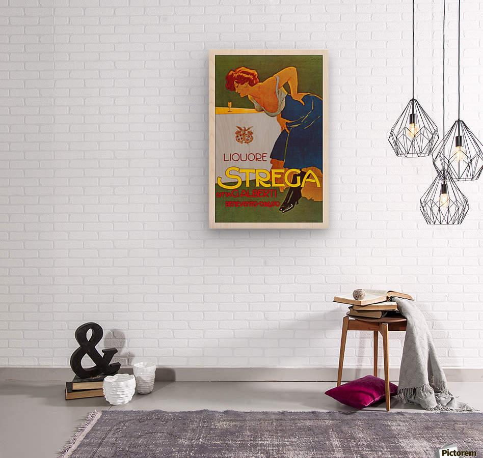 La Donna in Blu poster  Wood print