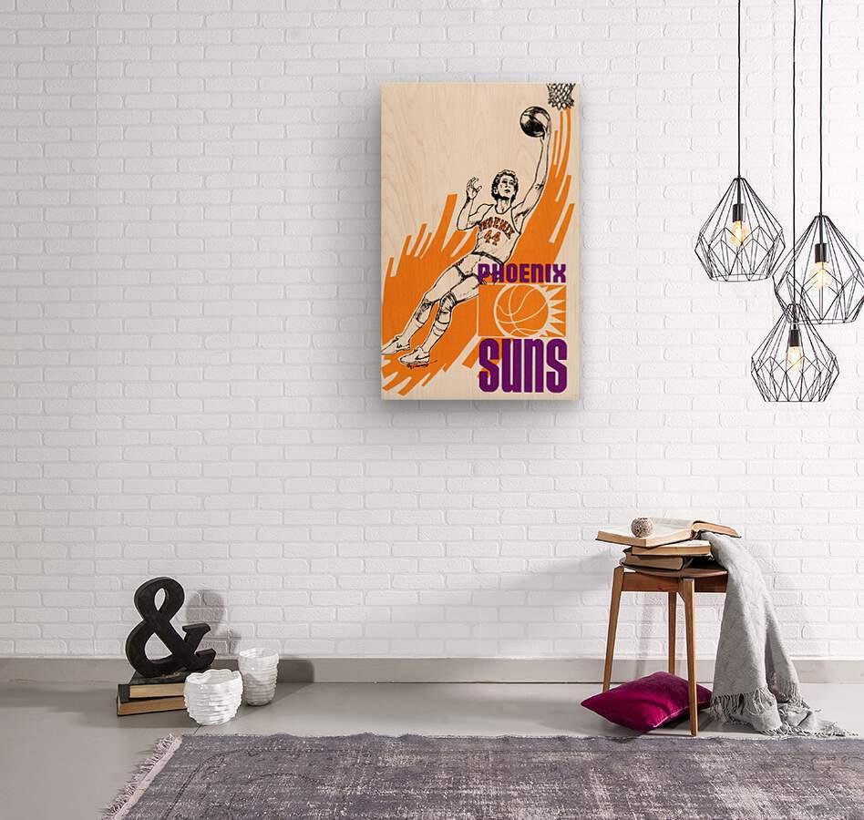 1977 Phoenix Suns Basketball Art  Wood print