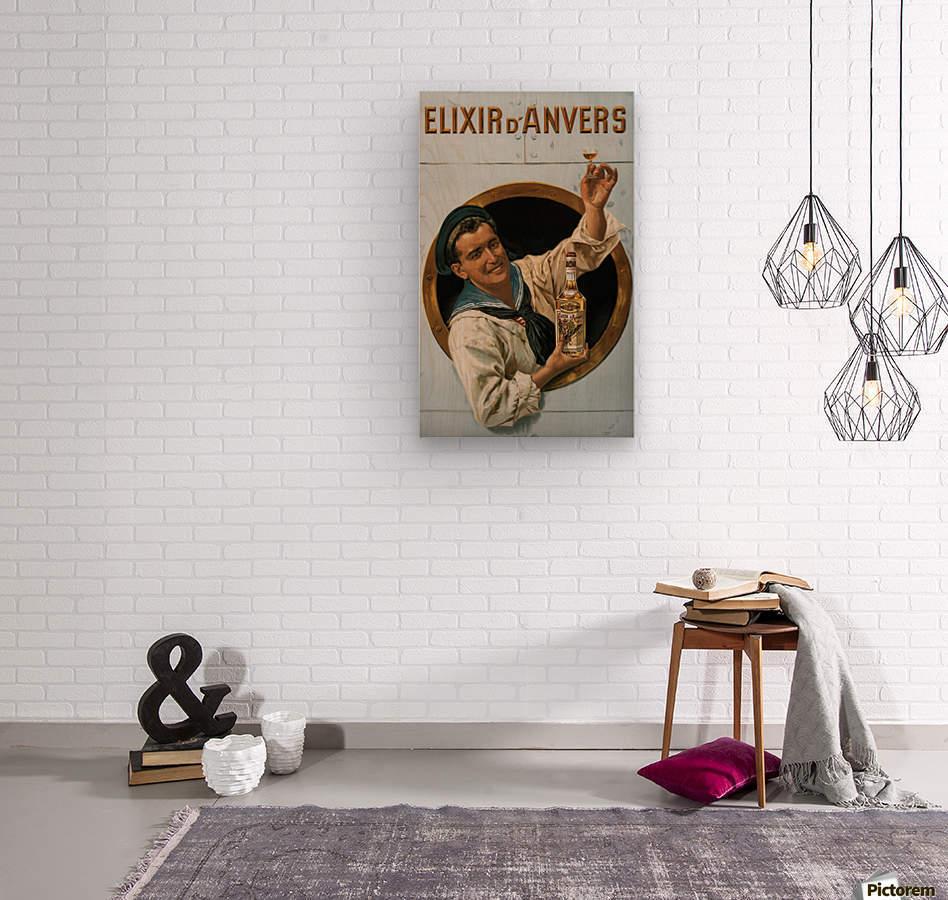 Elixir DAnvers Vintage Advertising Poster  Wood print