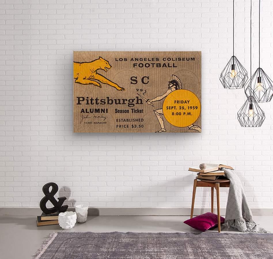 1959 Pittsburgh Panthers vs. USC Trojans  Wood print