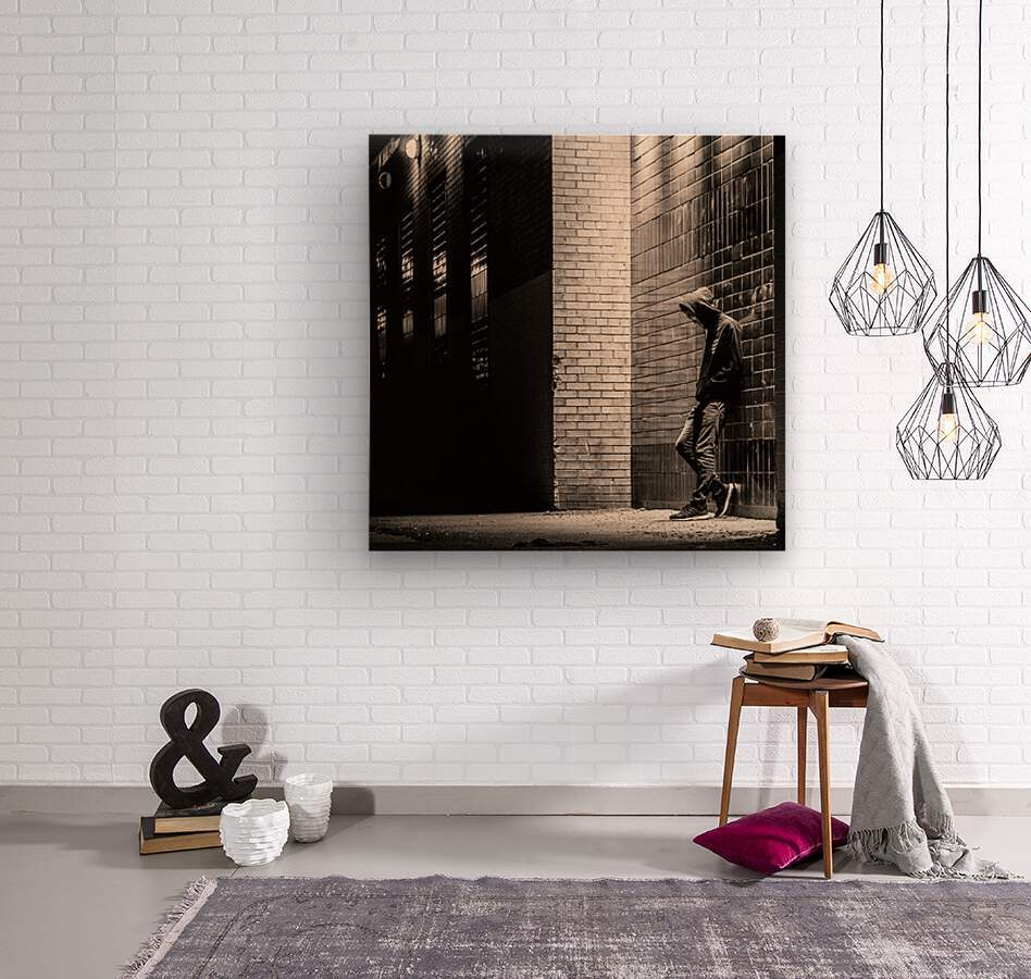 Urban Loneliness - The Lonely Teen  Wood print