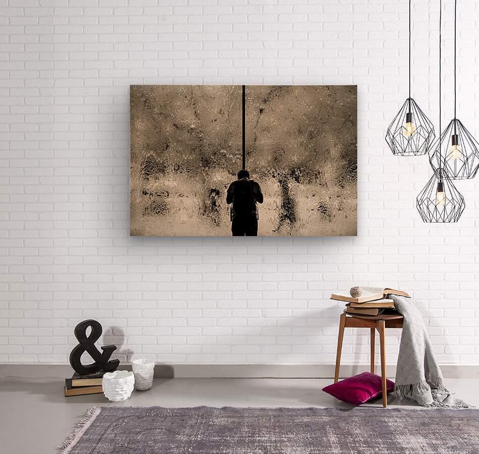 Urban Loneliness - Rain  Wood print