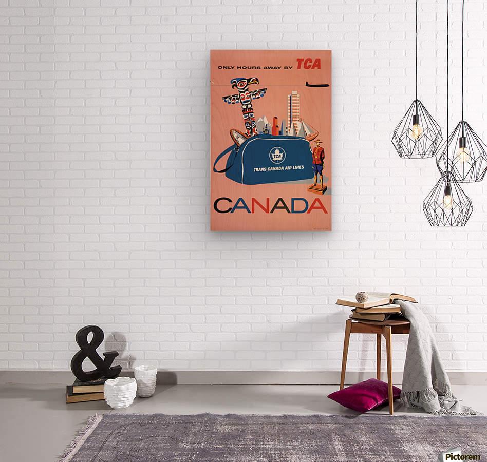 Vintage Toronto travel poster  Wood print