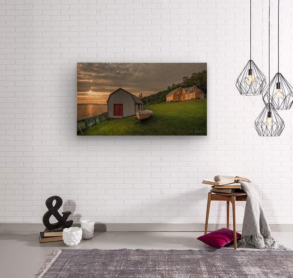 Hangar et chaloupe de la maison Xavier-Blanchette  Wood print