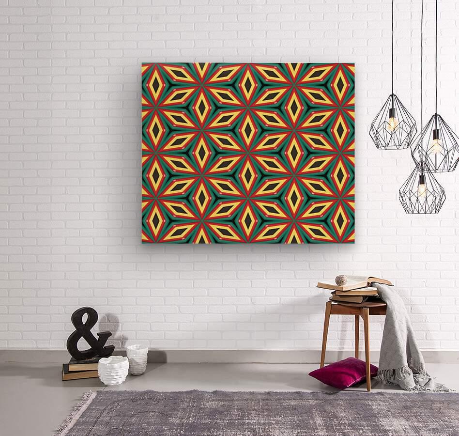 Colorful pattern  Wood print