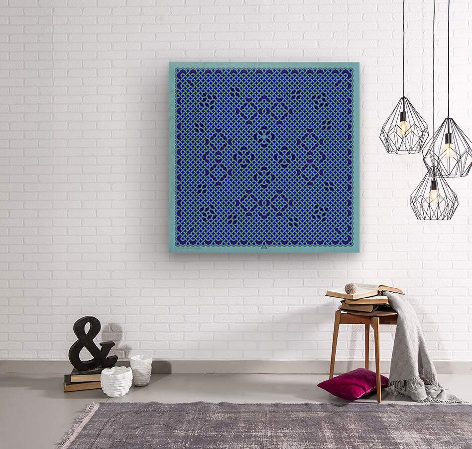 Celtic Maze 6003  Wood print