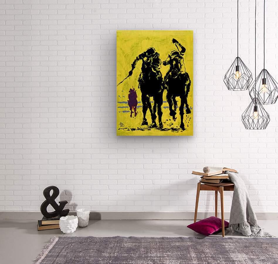 Triple Crowned  Wood print