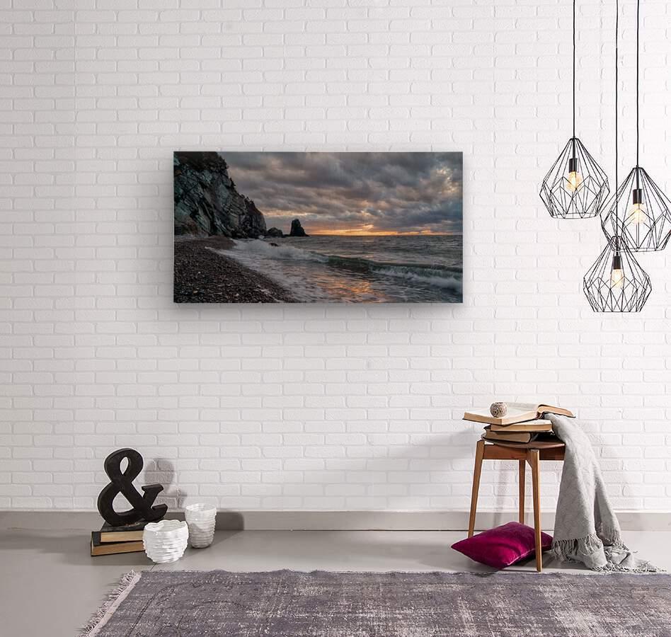 Presquile Sunset  Wood print
