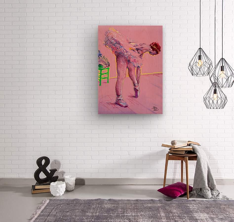 Pink Study East  Wood print