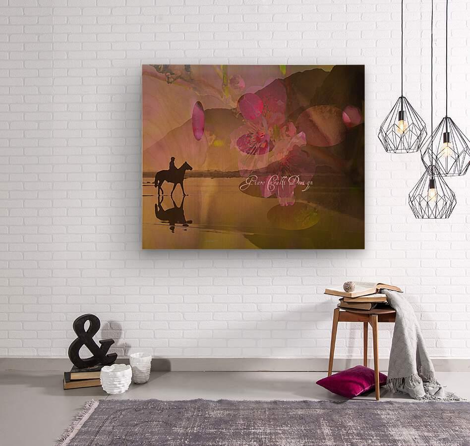 ARTCHEVALFLEURAGC16000  Wood print