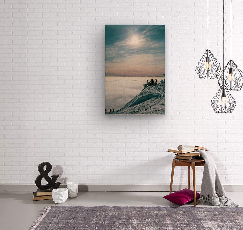 Soft Illumination   Wood print