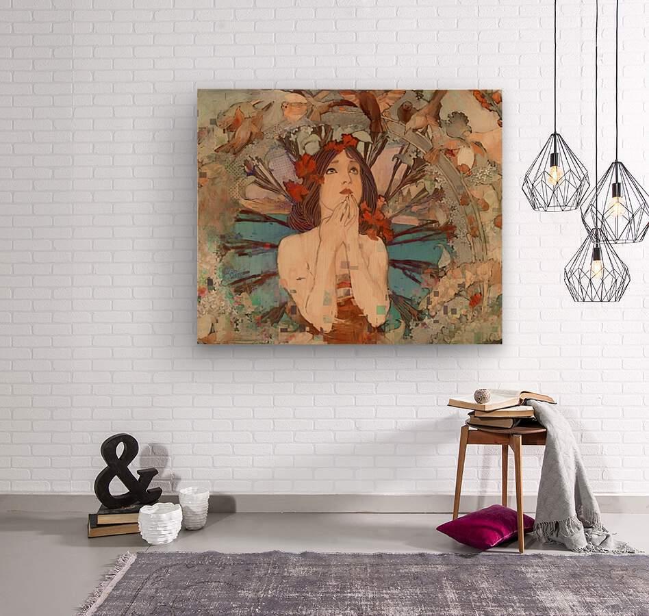 Art  Nouveau Redux  Wood print