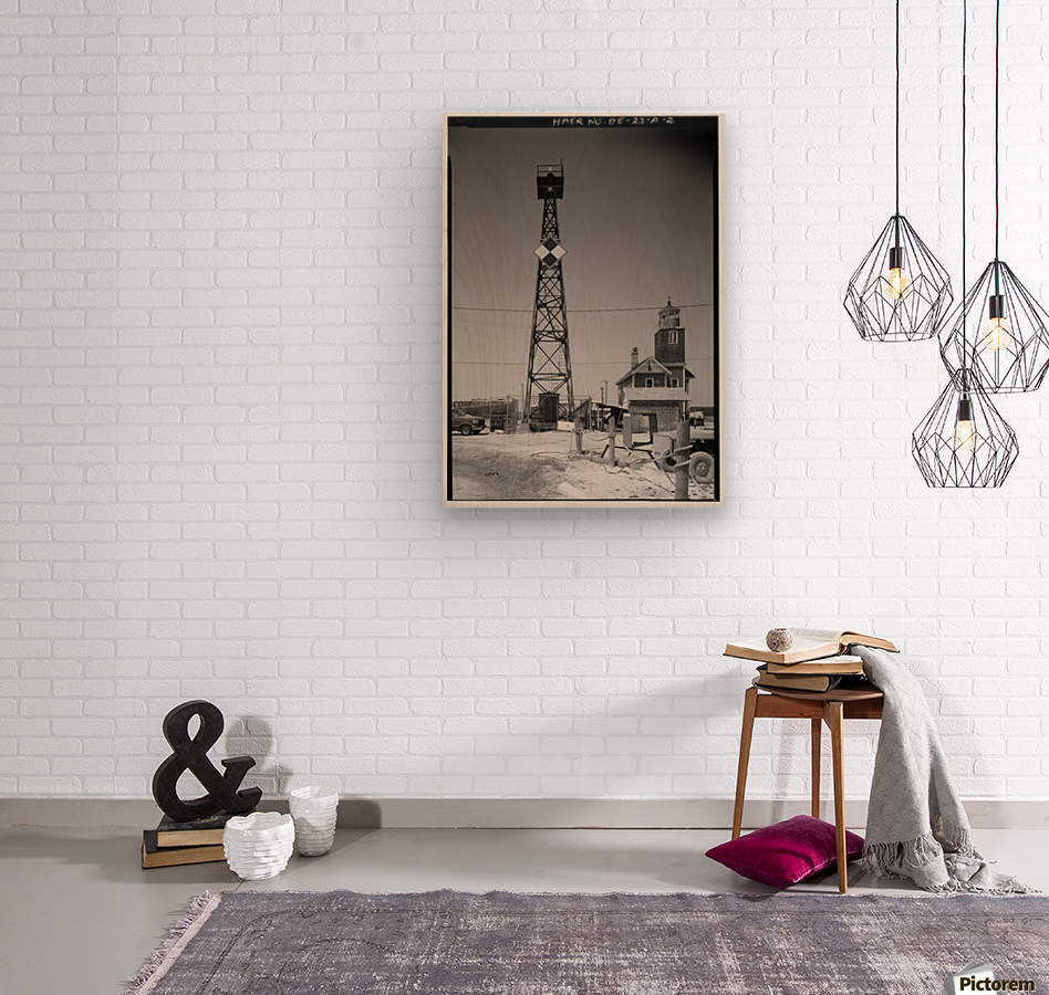 Mispillion-Beacon-Lighthouse-Delaware  Wood print