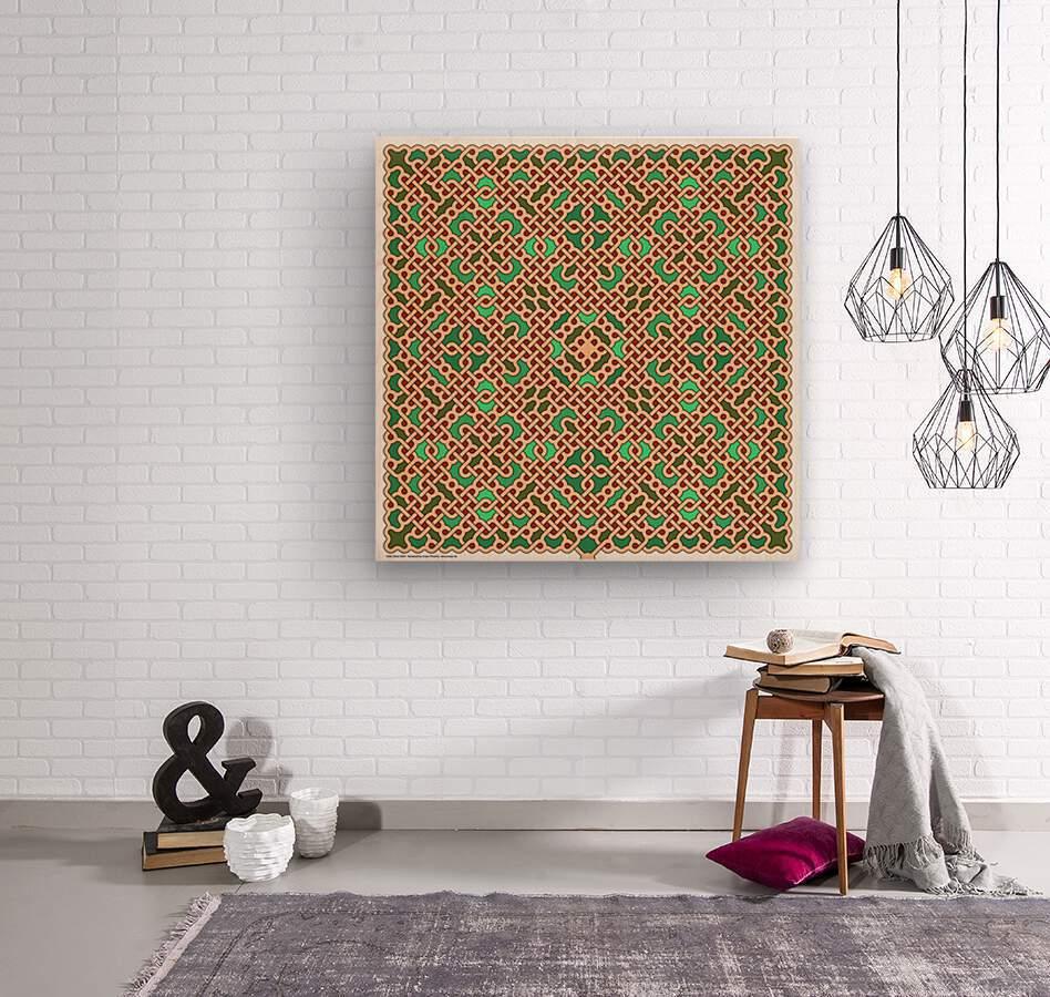 Celtic Maze 5024  Wood print