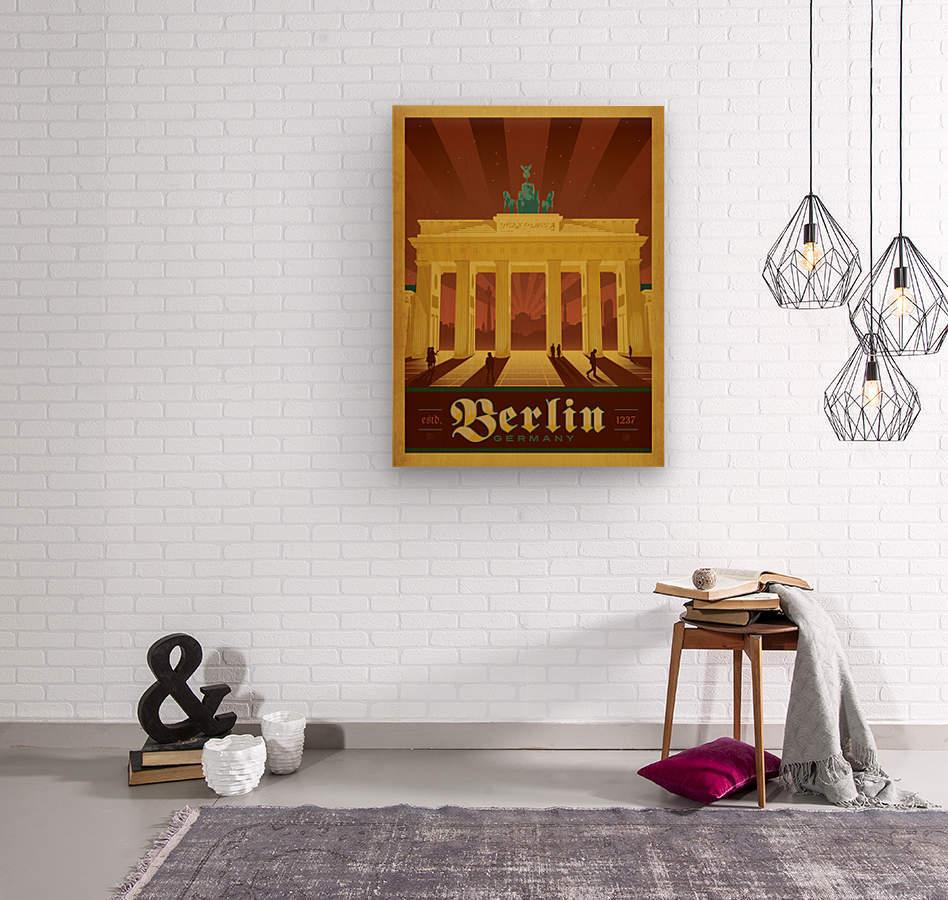 Berlin Germany travel poster  Wood print
