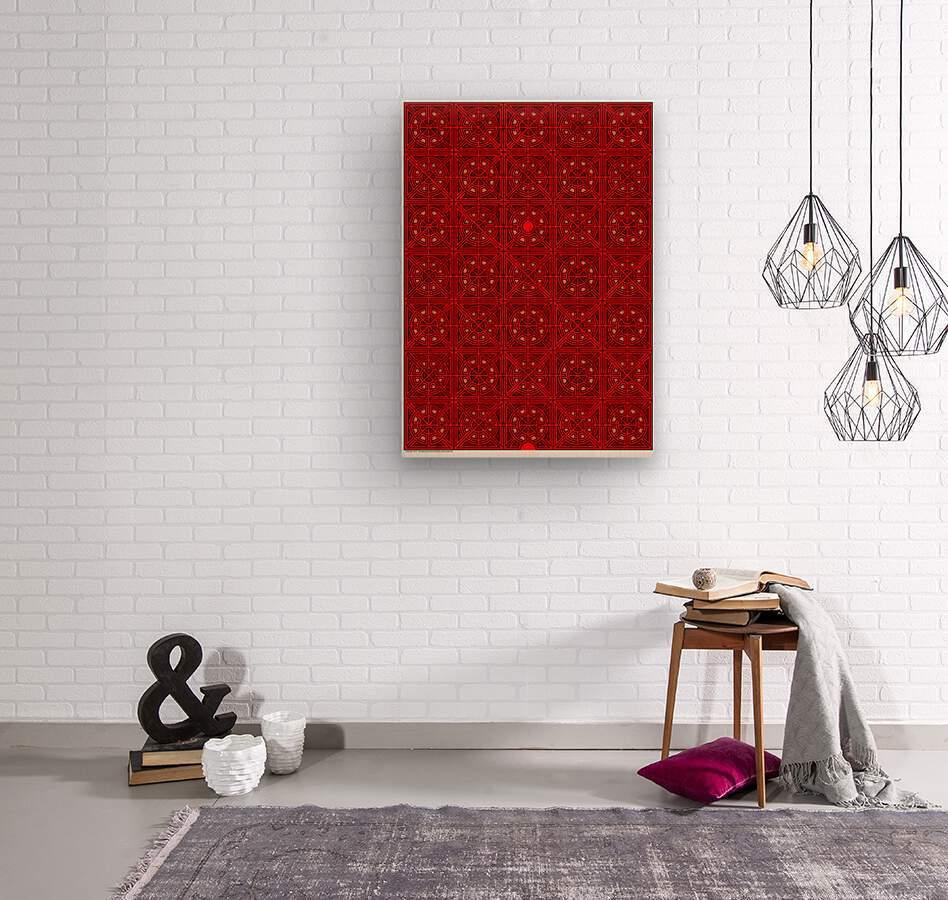 Labyrinth 3613  Wood print