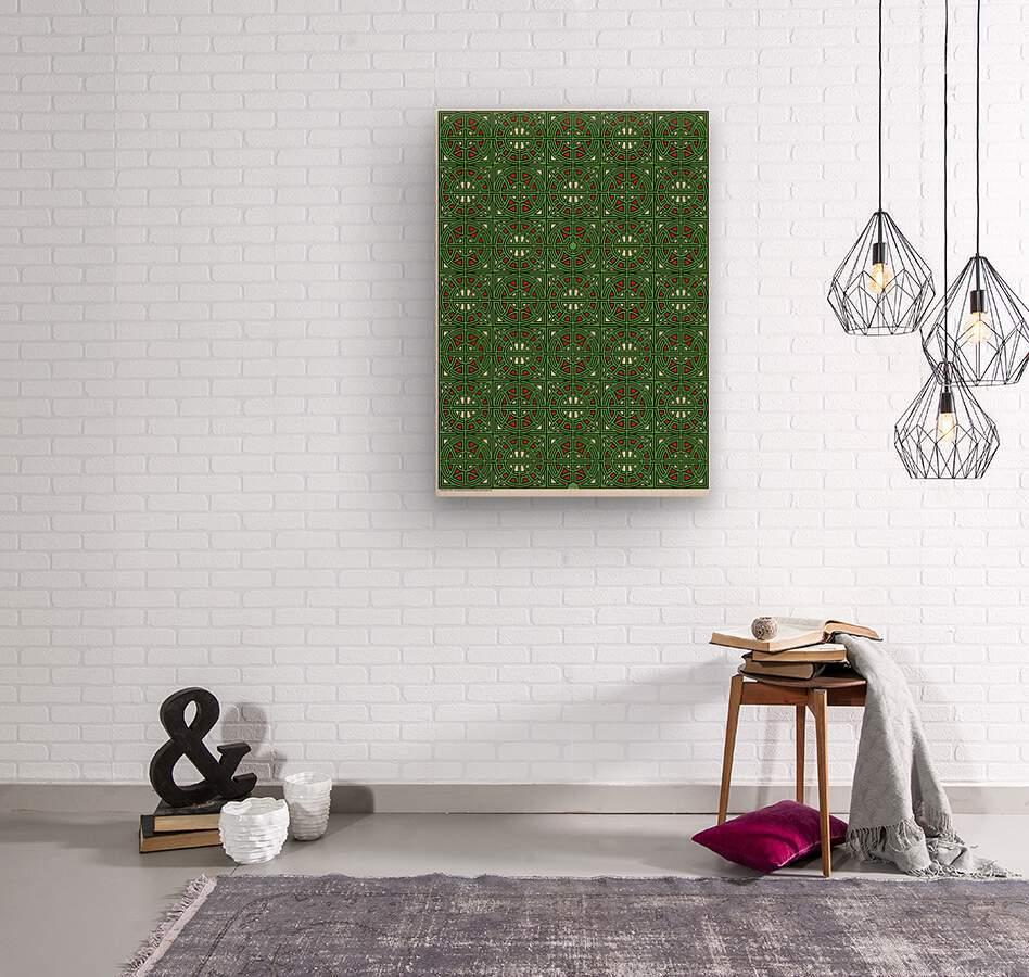 Labyrinth 3601  Wood print