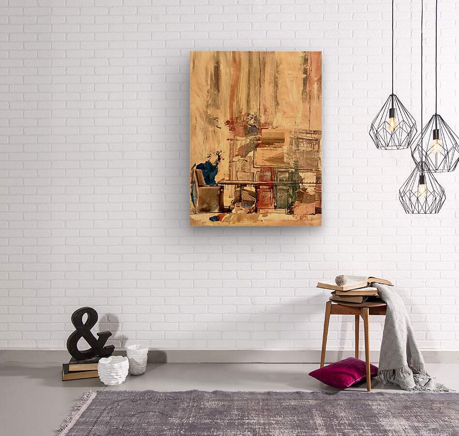 Dining Room Deconstructed   Wood print