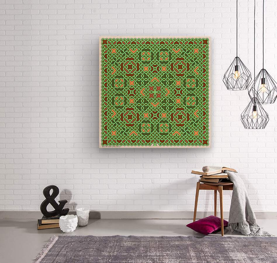 Celtic Maze 5028  Wood print