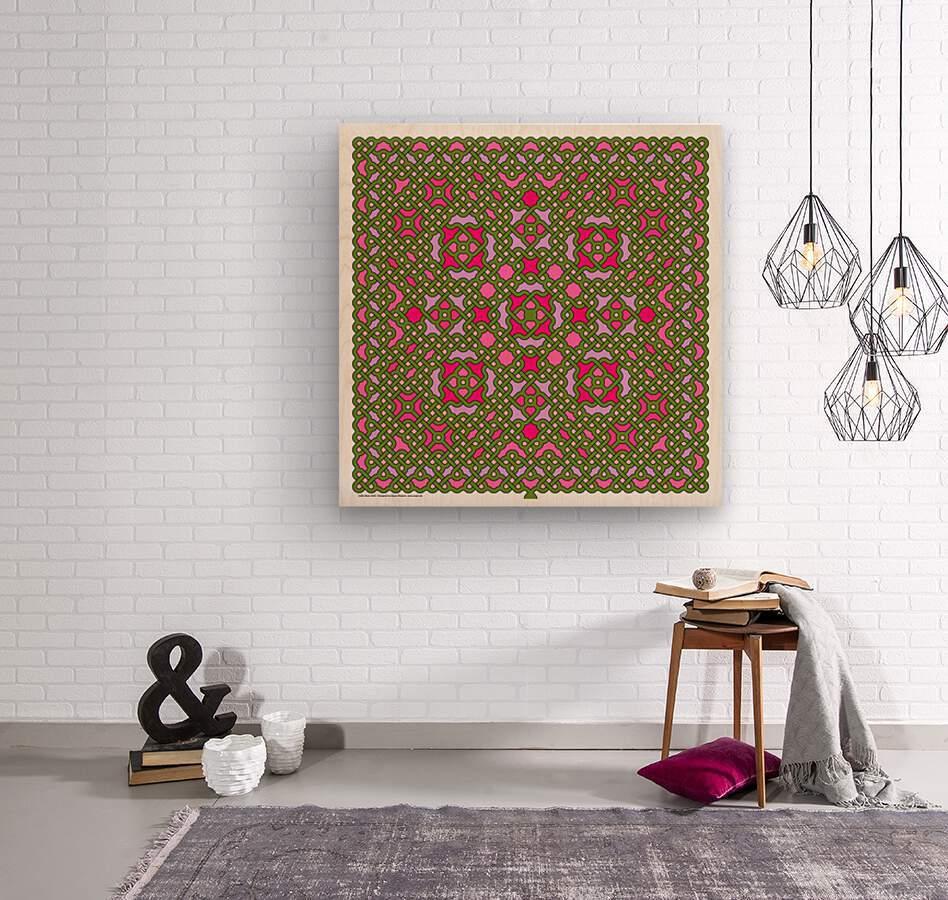Celtic Maze 5029  Wood print