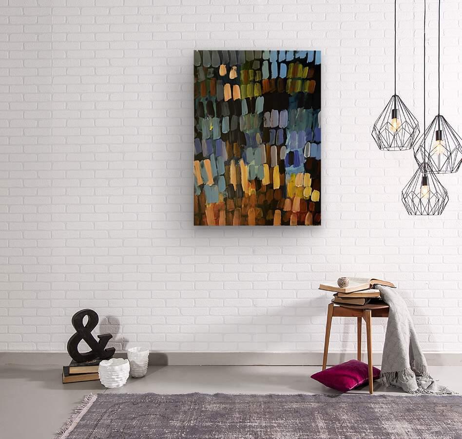Lights on the Harbor  Wood print