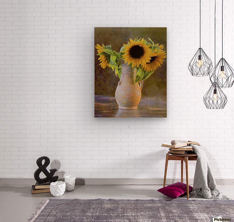 It's What Sunflowers Do - Flower Art by Jordan Blackstone  Wood print