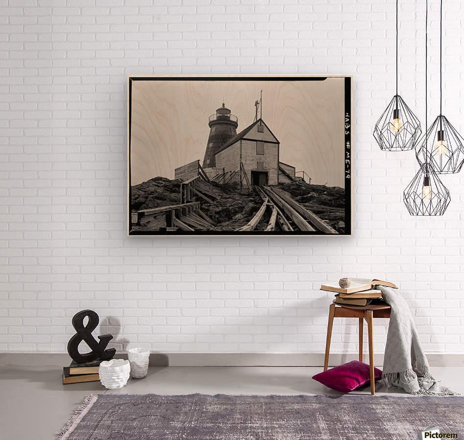 Saddleback-Ledge-Lighthouse-Maine  Wood print