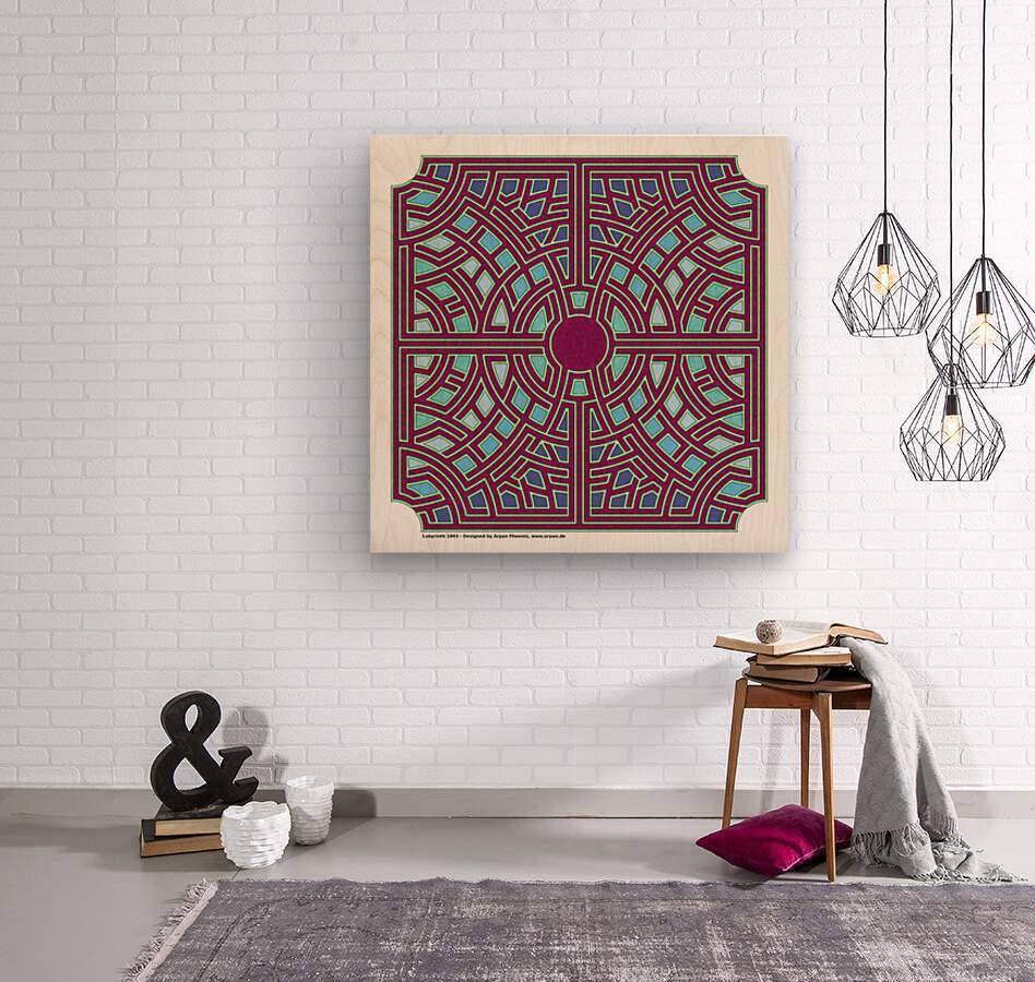 Labyrinth 1803  Wood print