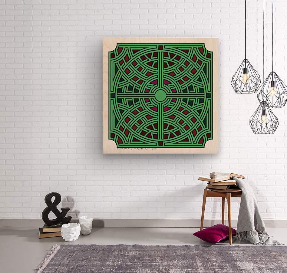 Labyrinth 1804  Wood print
