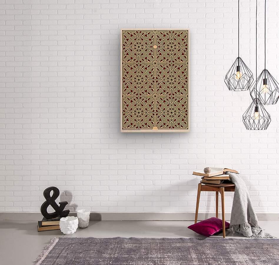 Labyrinth 2604  Wood print