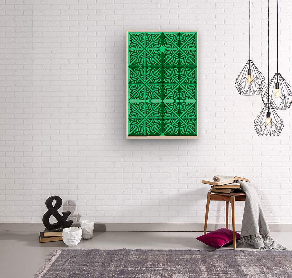 Labyrinth 2603  Wood print