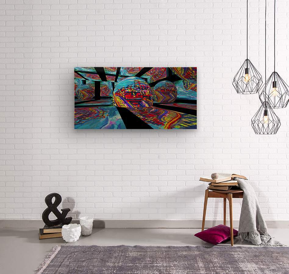 EXTREME Roller Coaster RoomXpander tm Tracking Art  Wood print