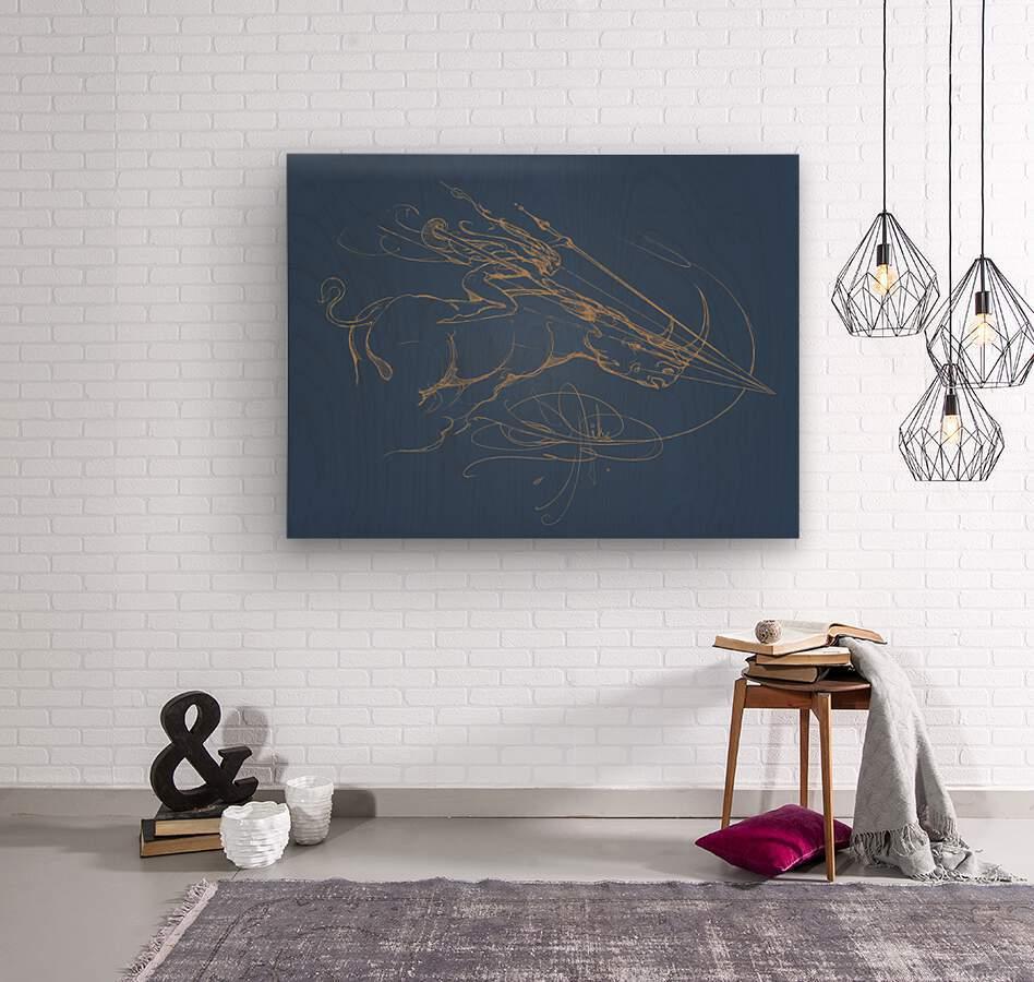Vanishing Point Dusk  Wood print