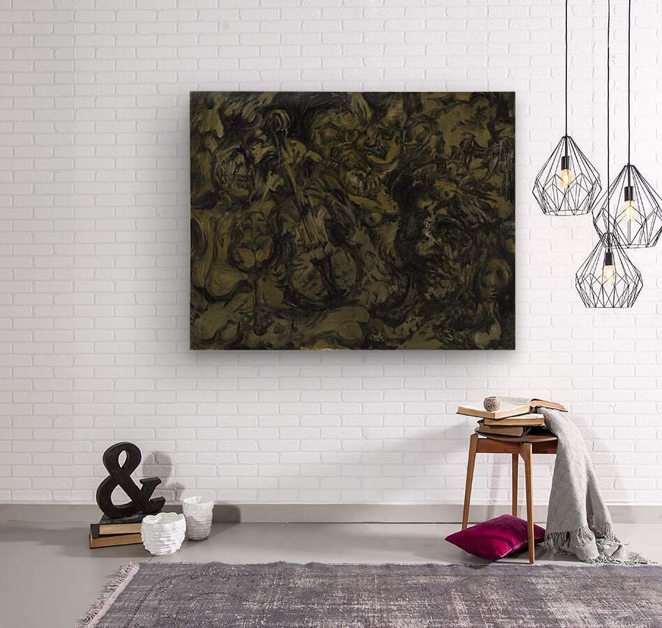 The Arts: Pareidolia  Wood print