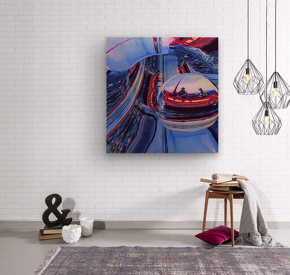 Romantic River Escape   Wood print