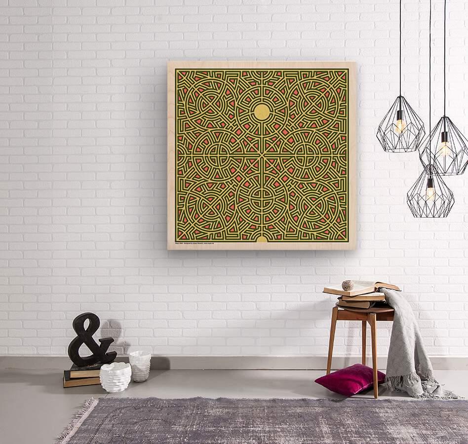 Maze 2808  Wood print