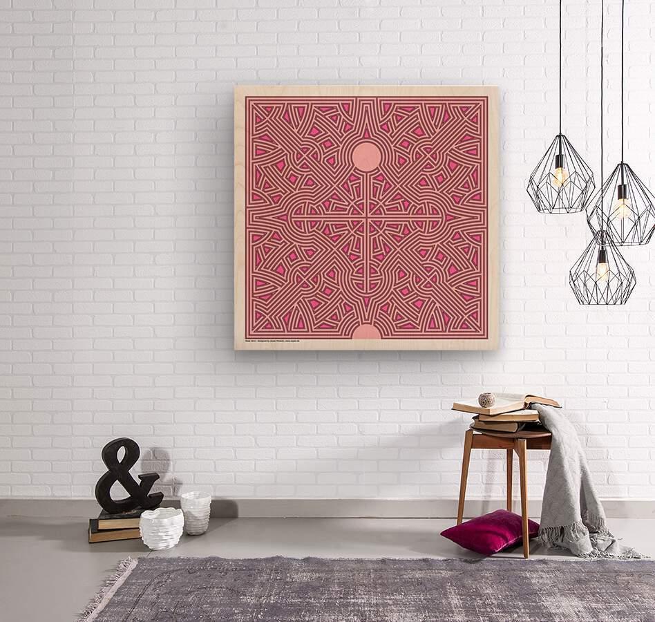 Maze 2823  Wood print