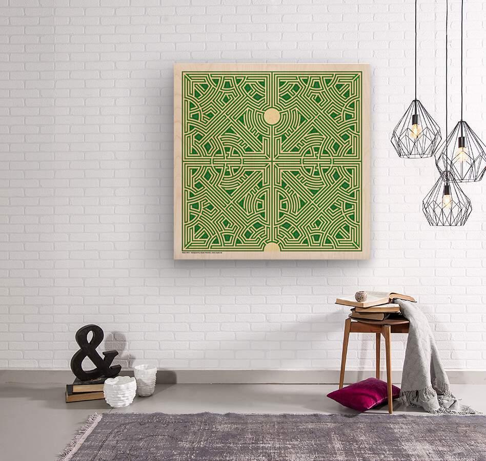 Maze 2821  Wood print