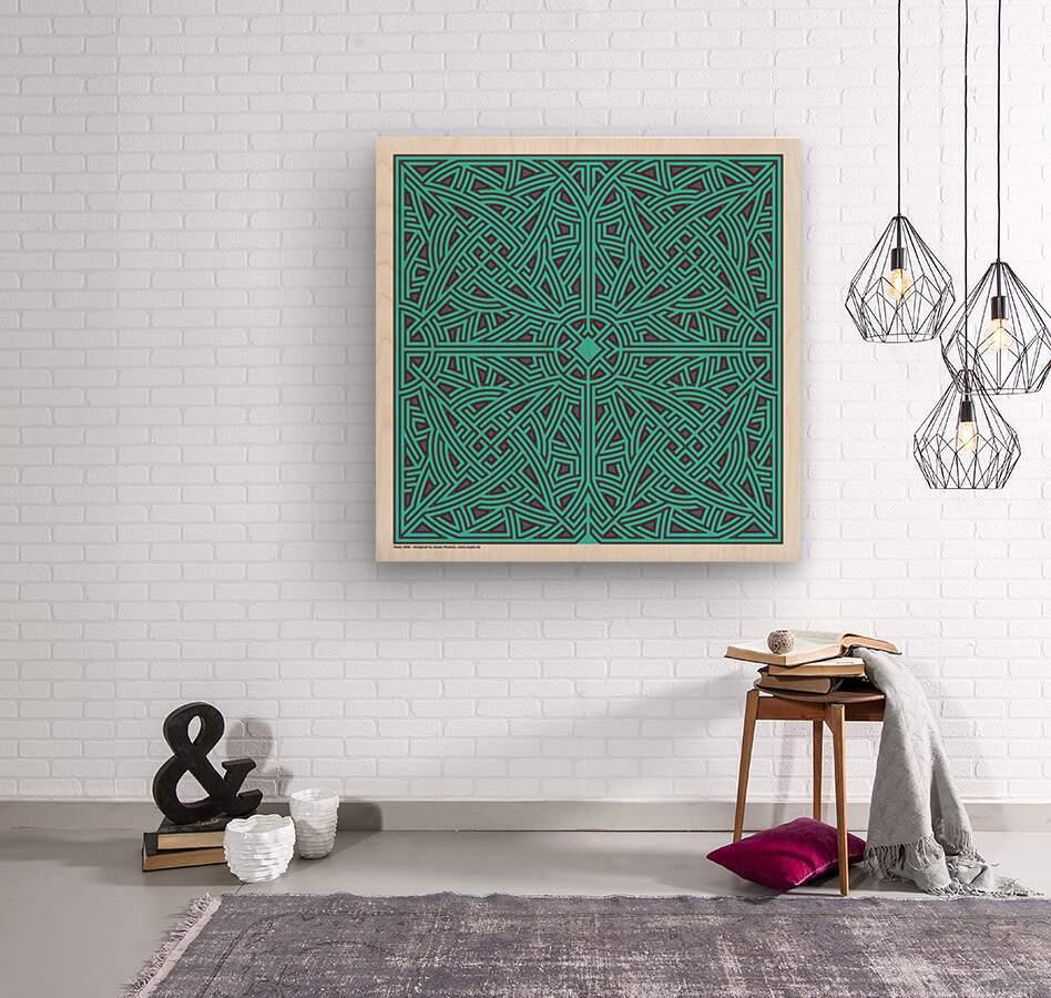 Maze 2896  Wood print