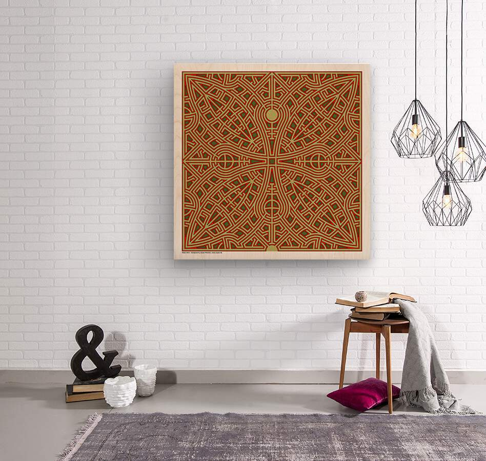 Maze 2832  Wood print