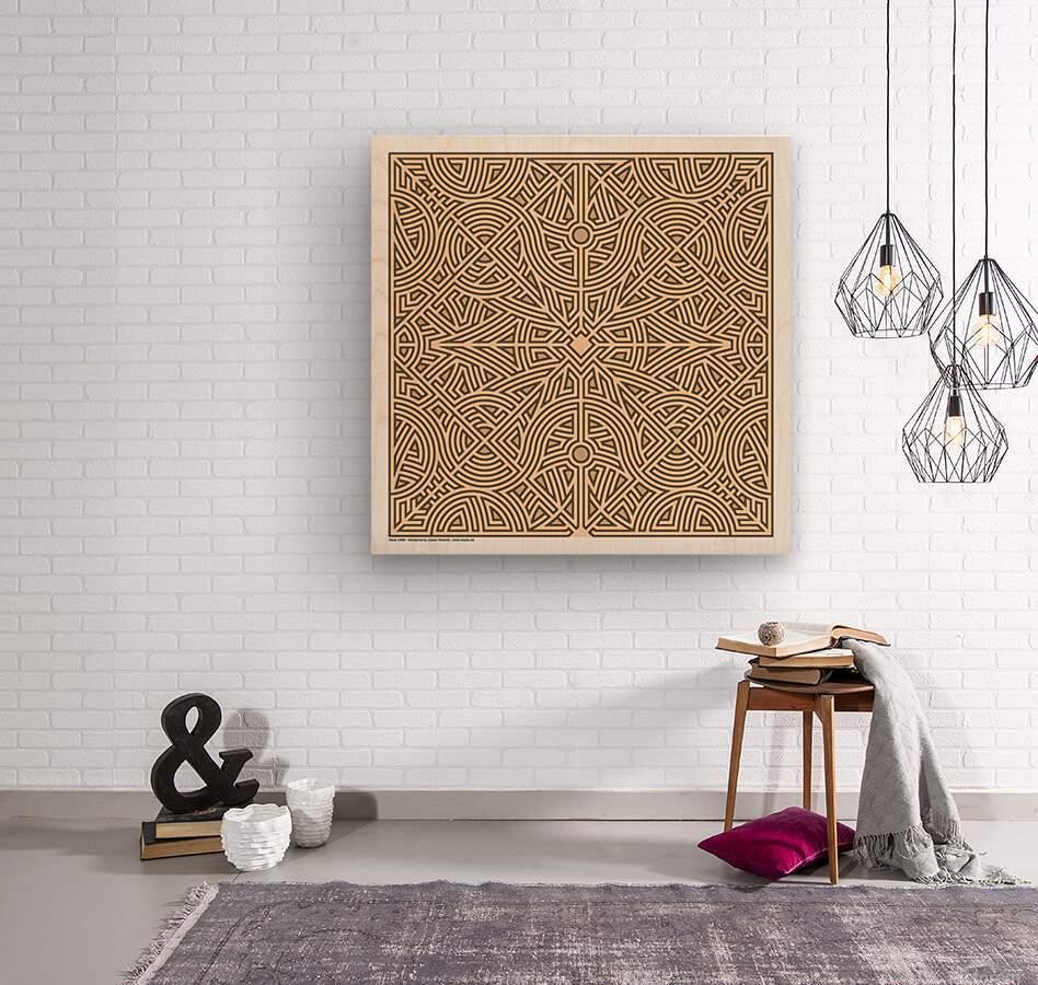 Maze 2888  Wood print