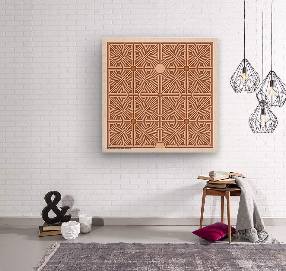 Maze 2846  Wood print