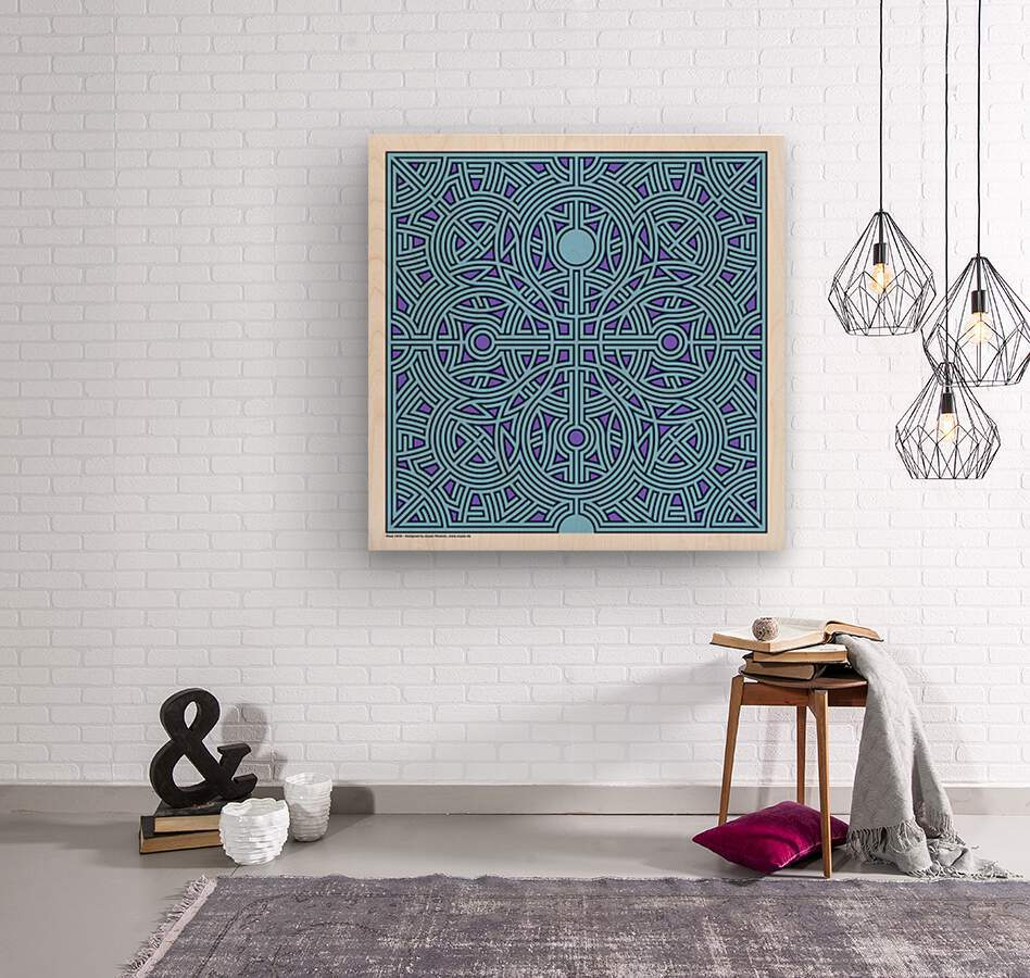 Maze 2839  Wood print