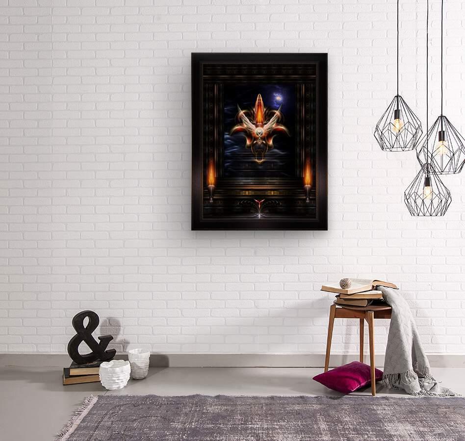 Akrellian Torch Fire Portrait Fractal Art Composition by Xzendor7  Wood print