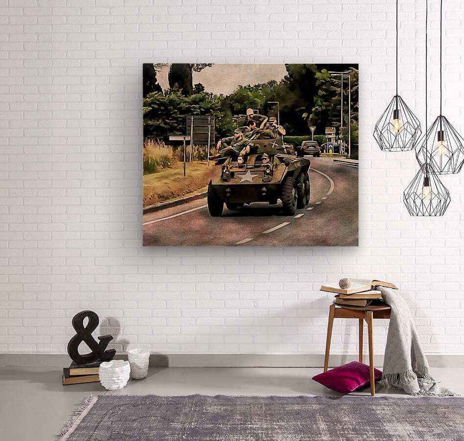 Six Wheeled Armoured Vehicle  Wood print