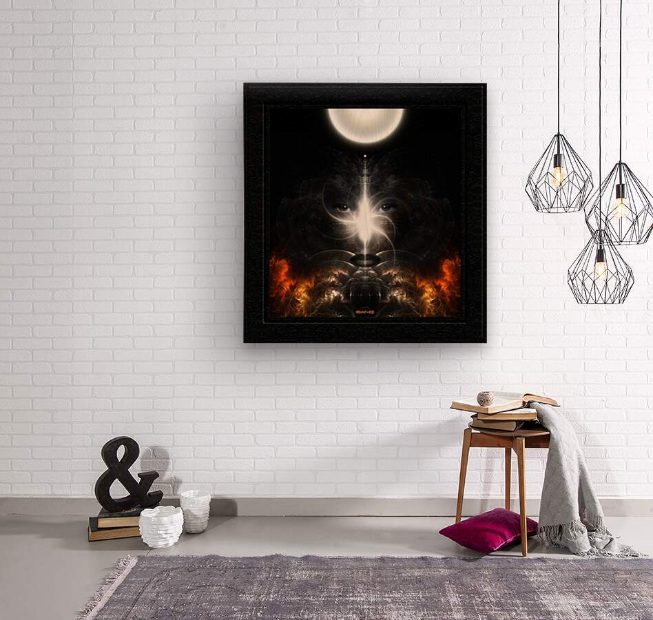 Isis Revealed Mystical Fractal Art Composition by Xzendor7  Wood print
