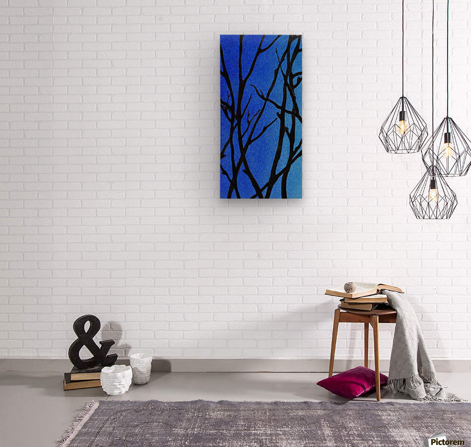 Ultramarine Forest Winter Blues I  Wood print