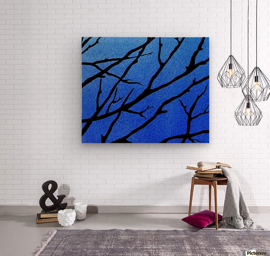 Ultramarine Forest Winter Blues II  Wood print