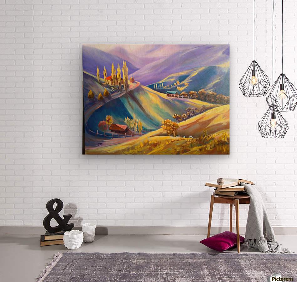 Moeciu landscape   Wood print