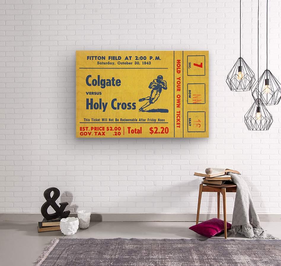 1943 Colgate vs. Holy Cross  Wood print